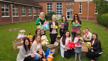 Cromwell Community College students held a toy collection.