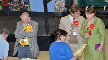 East Cambs election count at Ross Peers centre, Soham. Picture: Steve Williams.