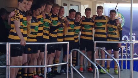 The victorious Ely Tigers under 15s side.