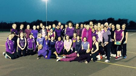 Netballers turned out in force to support the charity tournament.