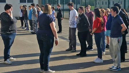 The cadets meet at Soham Village College for the first time.