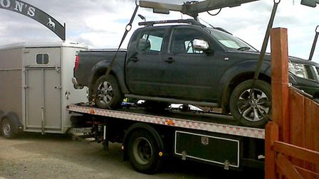 Haul of assets seized from ATM ram raid gang in Wisbech.