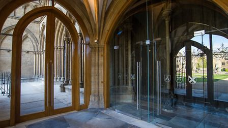 The view from inside the porch, showing access into the porticos. Pictures: Matthew Roberts.