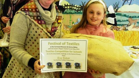 Eve Baker, right, with Alison White, from the Eastern Region Textile Forum.