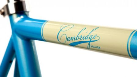 Distinctive markings on one of the bikes stolen from Wilburton.