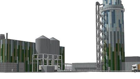 How the proposed straw pellet plant could look.