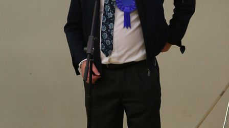 Cllr Steve Count after winning a seat on Fenland Council