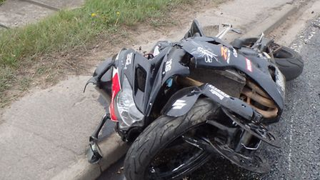 A motorbike collided with a tractor near Soham.