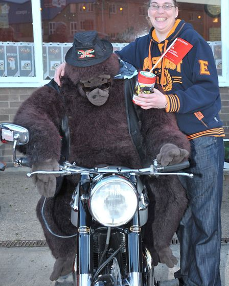 Bike night takes place at The Coffee Tree, A47 Guyhirn on Wednesday evenings. Manager Jo Goude with