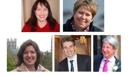 Top row, from left: Sarah Fraser and Madeleine Funnell. Bottom row: Coralie Green, Tom Hunt and Rich