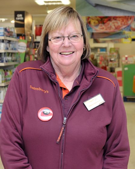 Joyce Marsh worked at sainsburys for 46 years. Picture: Steve Williams.