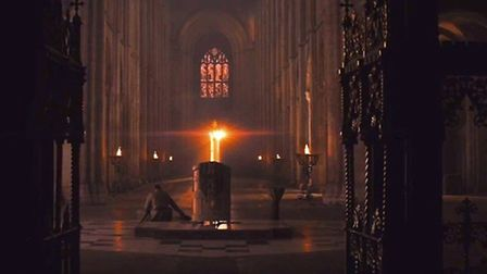 Scenes from Macbeth shot in Ely Cathedral.