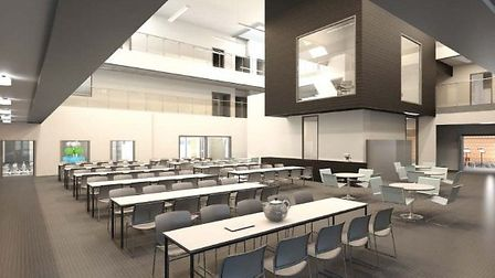 An artist's impression of how the new Littleport school and leisure complex could look.