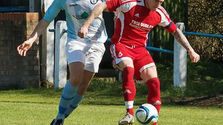 Action from Chatteris Town v Soham United. Picture: Barry Giddings.