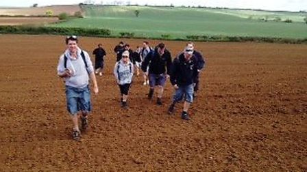 More than 150 staff took part in the coast-to-coast walk.