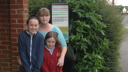 Mum Samantha Jones and her daughters Bethany and Bonnie Brown