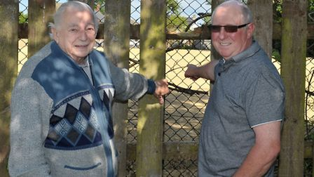 All the trees gone from the site at Gas Road. Left: Bevis Harpham and Malcolm Gray. Picture: Steve