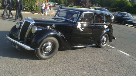 One of the vehicles that will be joining the classic car parade