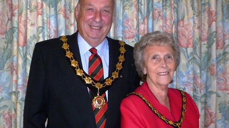 The Mayor of Great Dunmow and his wife, Margaret
