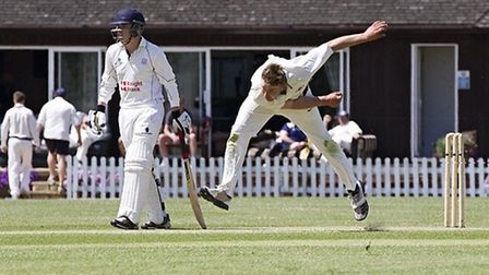 Captain Tyler Phillips bowling for March. Picture: Pat Ringham.