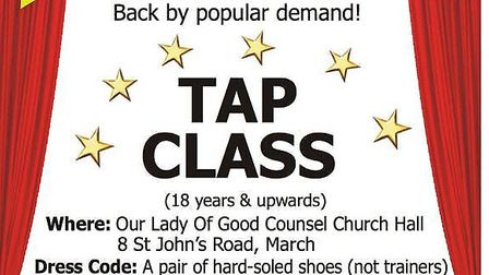 Charity tap class in March