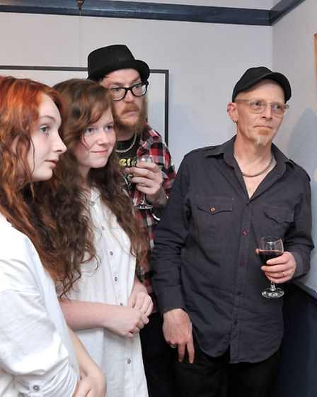 Dan Donovan photographic book launch. Angles theatre Wisbech. right; Dan Donovan with family and fri