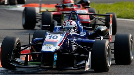 George Russell in action in Monza.