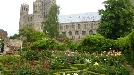 The bishop's garden provides stunning views of Ely Cathedral