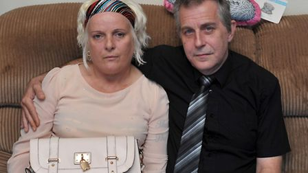 Ruth Neave and husband Gary Rogers before the press conference. Picture: Steve Williams.