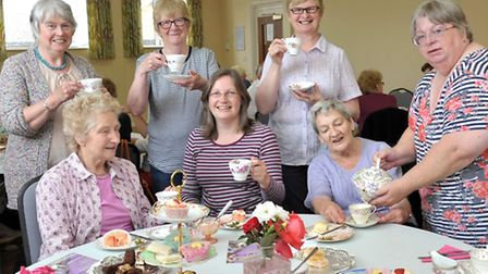 Fund raising vintage coffee afternoon at King Edward centre,for Chatteris in bloom. far right, Commi