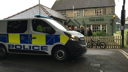 Police outside the Acre pub in March. Picture: Kallum Ryan-Mueller