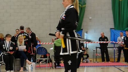 Ashley Moody in action at the European championships