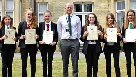 Some of the Soham Village College students who took part in the research.