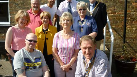 President and members of Rotary Club and The Lions ,The Whittlesey Charities, Gas Design and the cur