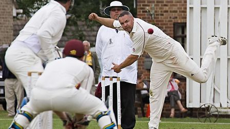 March cricket v Burwell II. Slow bowler James Harradine. Picture: PAT RINGHAM.
