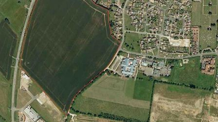 The site of the planned 250-home development on the outskirts of Littleport.