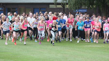 'Race at your place' at Wisbech Grammar School. The start of the race. All pictures by Tim Chapman.