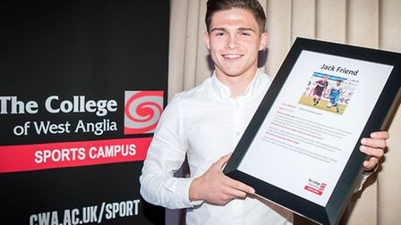 CWA Sports Awards 2015. Guest of honour Jack Friend.