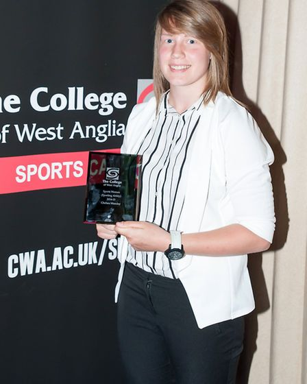 CWA Sports awards. Sports Woman of the year Chelsea Munday.