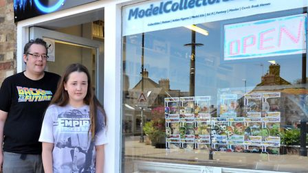 Model Collector Shop, Chatteris. Left: Owner Brian Edwards and Daughter Mary.Picture: Steve Williams