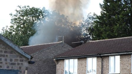 The scene of the shed fire in Northfield Park which led to the discovery of a cannabis farm.