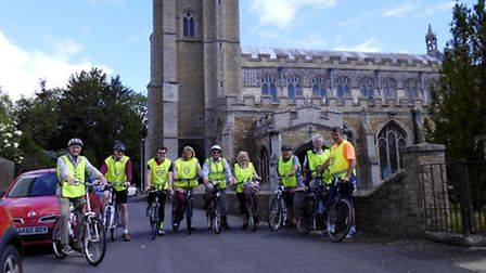 March and Chatteris Rotary Club cyclists.