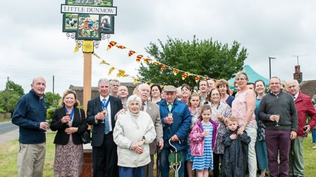 Little Dunmow sign unveiling. Picture: Roger King