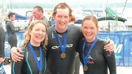 From left: Charlotte Lowry, fiancé Lee Mulderrig and Ayliffe Rose.