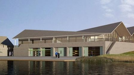 The original plan for the boathouse at Fore Mill Wash has been down-sized.
