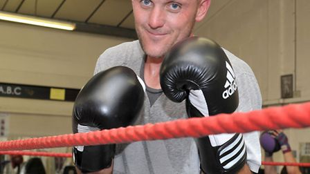 March ABC boxer Jim training for first fight aged 37. Picture: Steve Williams.
