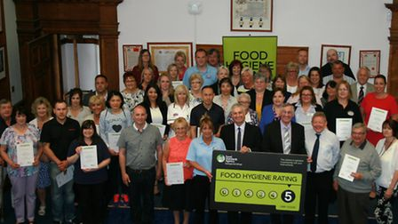 Fenland catering businesses celebrate their five star hygiene ratings.