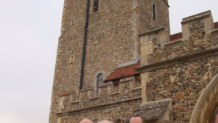 Left to right: Susan Barker of Stansted Airport Community Trust, Brian Moody of Essex Heritage Trust