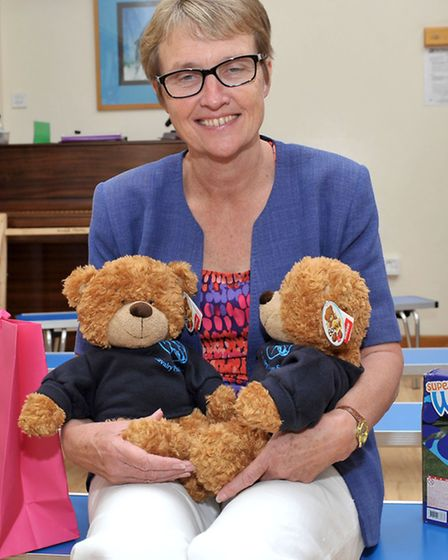 Cavalry Primary School, March. Head teacher Val Spriggs at her retirement assembly. Picture: Steve W