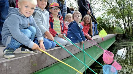 Manea pit,Pond dipping area officially opened. Picture: Steve Williams.